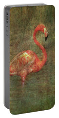Portable Battery Charger featuring the photograph The Flamingo by Hanny Heim