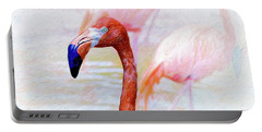 Portable Battery Charger featuring the photograph The Flamingo by John Kolenberg