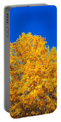 The Flare Of Fall On A Clear Day Portable Battery Charger