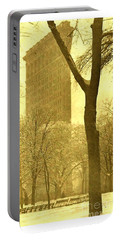 Portable Battery Charger featuring the photograph The Flat Iron Building 1903 Alfred Stieglitz by Peter Gumaer Ogden