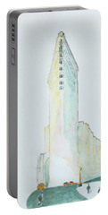 The Flat Iron Building Portable Battery Charger by Keshava Shukla