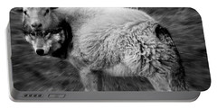 The Flock Is Safe Grayscale Portable Battery Charger