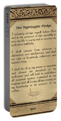 The Florence Nightingale Pledge 1893 Portable Battery Charger