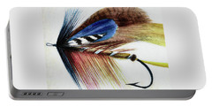 Portable Battery Charger featuring the digital art The Fly by Steve Taylor