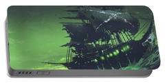 Portable Battery Charger featuring the painting The Flying Dutchman by Tithi Luadthong