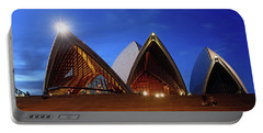Portable Battery Charger featuring the photograph The Forecourt Sydney Opera House By Kaye Menner by Kaye Menner