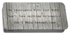 The Four Agreements 12 Portable Battery Charger