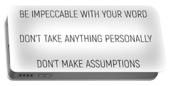 The Four Agreements #minismalism #shortversion Portable Battery Charger