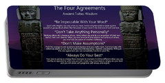 The Four Agreements Poster Portable Battery Charger