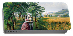 The Four Seasons Of Life  Youth  The Season Of Love Portable Battery Charger