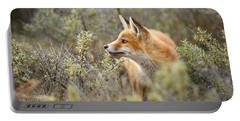 The Fox And Its Prey Portable Battery Charger by Roeselien Raimond