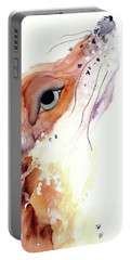 Portable Battery Charger featuring the painting The Fox by Dawn Derman