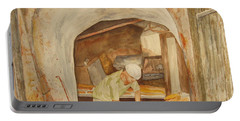 Portable Battery Charger featuring the painting The French Baker by Vicki  Housel