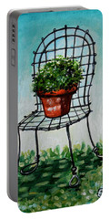 The French Garden Cafe Chair Portable Battery Charger