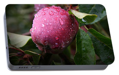 Portable Battery Charger featuring the photograph The Freshest Apple by Katie Wing Vigil