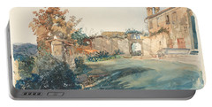 The Garden Of San Miniato Near Florence Portable Battery Charger