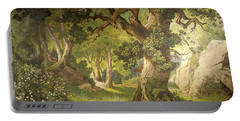 The Garden Of The Magician Klingsor, From The Parzival Cycle, Great Music Room Portable Battery Charger