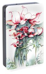 Portable Battery Charger featuring the painting The Gateway To Imagination by Anna Ewa Miarczynska