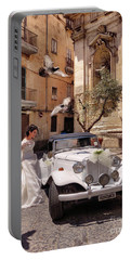 The Runaway Bride.taranto. Italy Portable Battery Charger by Jennie Breeze