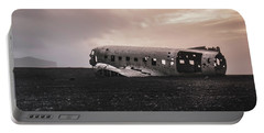 The Ghost - Plane Wreck In Iceland Portable Battery Charger