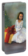 Portable Battery Charger featuring the painting The Gift by Marlene Book