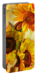 The Gift Of Joyfulness Portable Battery Charger by Maria Urso