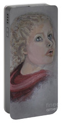 The Girl In The Red Coat Portable Battery Charger