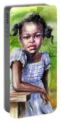 The Girl On The Veranda Portable Battery Charger