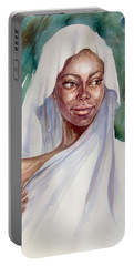 The Girl With The White Scarf Portable Battery Charger
