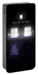 The Glass Police Box Portable Battery Charger
