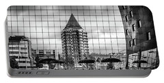 Portable Battery Charger featuring the photograph The Glass Windows Of The Market Hall In Rotterdam by RicardMN Photography