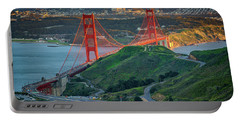 The Golden Gate At Sunset Portable Battery Charger