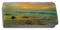 Portable Battery Charger featuring the photograph The Golden Moments On Molokai by Tara Turner