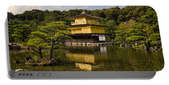 The Golden Pagoda In Kyoto Japan Portable Battery Charger by David Smith