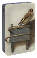 The Goldfinch, 1654  Portable Battery Charger by Carel Fabritius
