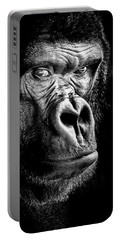 The Gorilla Large Canvas Art, Canvas Print, Large Art, Large Wall Decor, Home Decor Portable Battery Charger by David Millenheft