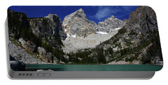 The Grand And Mount Owen From Delta Lake Portable Battery Charger