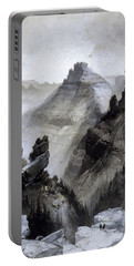Portable Battery Charger featuring the drawing The Grand Canyon Drawing            by Thomas Moran