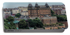 The Grand Hotel Scarborough Portable Battery Charger by David  Hollingworth