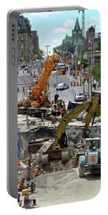 Portable Battery Charger featuring the photograph The Great Ottawa Sink Hole by Stephanie Moore