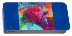 The Great Sea Turtle In Abstract Portable Battery Charger