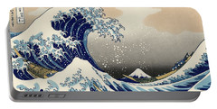 Portable Battery Charger featuring the photograph The Great Wave Off Kanagawa by Katsushika Hokusai
