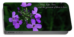 Portable Battery Charger featuring the photograph The Greatest Is Love by Tikvah's Hope
