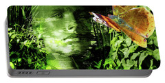 Portable Battery Charger featuring the photograph The Green Man by LemonArt Photography
