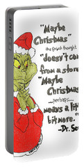 The Grinch Christmas Quote Portable Battery Charger