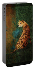 Portable Battery Charger featuring the photograph The Guard At The Temple by Melinda Hughes-Berland