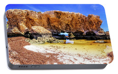 Portable Battery Charger featuring the photograph The Guardian, Two Rocks by Dave Catley