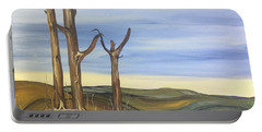 Portable Battery Charger featuring the painting The Guardians by Pat Purdy