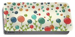 Portable Battery Charger featuring the digital art The Gumdrop Garden by Deborah Smith