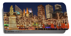Portable Battery Charger featuring the photograph The Hague Skyline From The Plein by Barry O Carroll